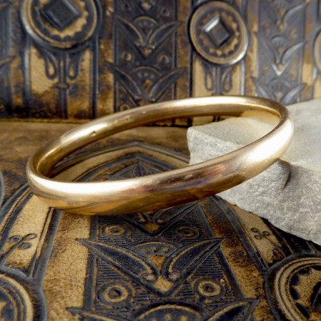 SOLD Victorian Bangle modeled in 9ct Gold