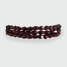 SOLD Antique Early Victorian Garnet Gold Bracelet
