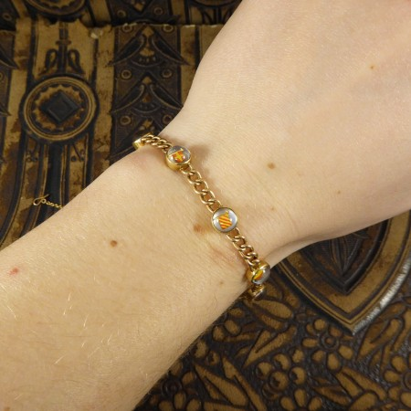 SOLD Nautical Flag Semaphore Bracelet spelling EVER YOURS set in 15ct Yellow Gold