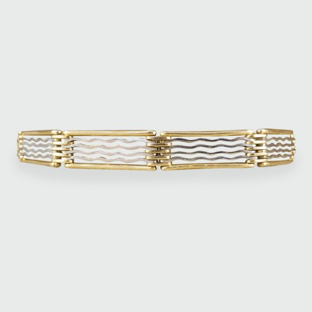 Edwardian 15ct Yellow and White Gold Reversible Link Bracelet