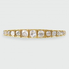SOLD Antique Victorian Bangle set with 4.50ct Diamond in 15ct Yellow Gold