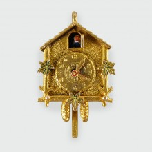 Vintage Cuckoo Clock Charm in 9ct Gold