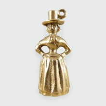 Vintage Traditional Welsh National Costume Lady Charm in 9ct Gold