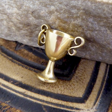 Vintage 18ct Yellow Gold Trophy Cup Charm Pendant