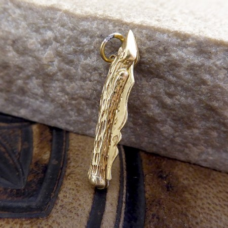Vintage 18ct Yellow Gold Flick Pen Knife Charm