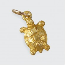 SOLD Vintage 18ct Yellow Gold Turtle Charm
