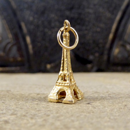 SOLD 9ct Yellow Gold Eiffel Tower Charm Pendant
