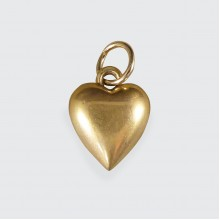 Dainty Little Vintage Yellow Gold Heart Charm Pendant