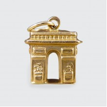 SOLD 9ct Yellow Gold Arc De Triomphe Charm Pendant