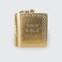 SOLD Vintage 9ct Yellow Gold Bible Locket Charm Pendant