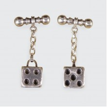 Solid Silver Quality Playing Dice Cufflinks