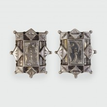 SOLD Victorian Antique Silver Engraved Earrings