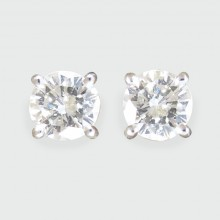 SOLD Contemporary 0.25ct Diamond Stud Earrings in 18ct White Gold