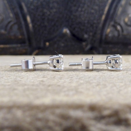 Classic Diamond Stud Earrings 0.68ct Total in 18ct White Gold