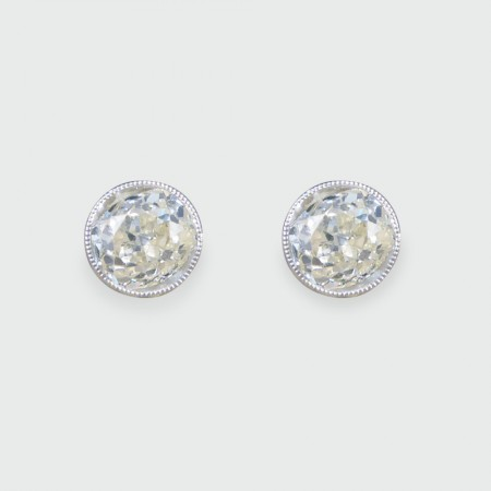 ON HOLD Diamond Collar Set Stud Earrings 1.84ct Total in 18ct White Gold and Platinum