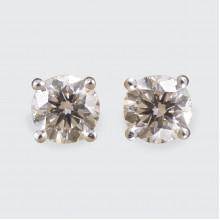 Modern 2.12ct Diamond Stud Earrings in 18ct White Gold