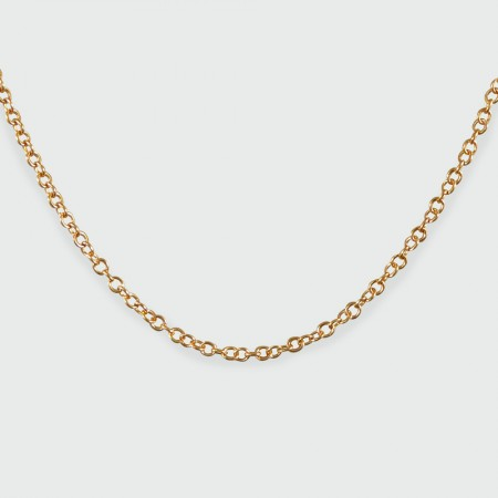 9ct rose gold trace chain 15mm