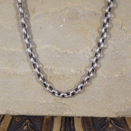 SOLD Antique Victorian Silver Sterling Guard Chain with Dog Clip Bail