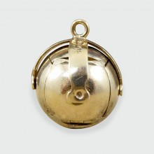 SOLD Vintage Masonic Orb Folding Out Pendant in Silver and Gold