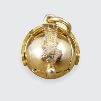 Vintage Masonic Orb Folding Out Pendant in Gold and Silver
