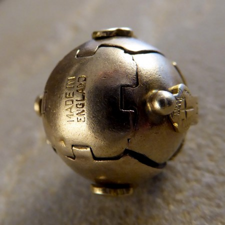 SOLD Antique Masonic Folding Orb Gold Pendant