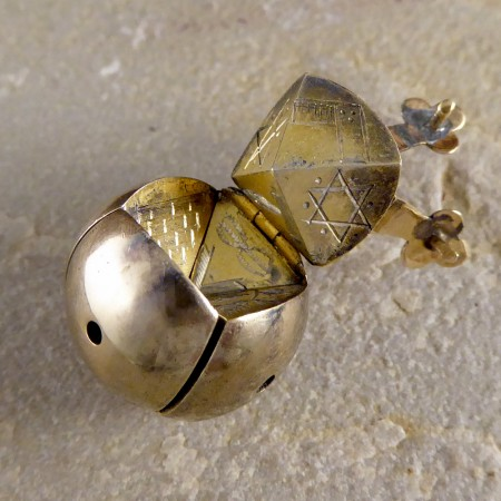Victorian Antique Masonic Folding Orb Gold and Silver Pendant