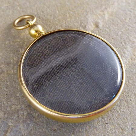 Antique edwardian glass locket in 15ct gold antique edwardian glass locket pendant in 15ct gold mozeypictures Choice Image