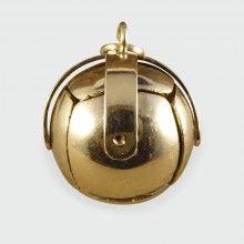 SOLD Vintage Masonic Ball Folding Orb Gold and Silver Pendant