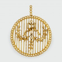 Belle Époque Pearl Pendant and Brooch in 15ct Yellow Gold