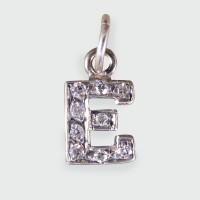 Antique Edwardian E Diamond set Pendant in 18ct White Gold