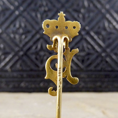 Antique Royal Presentation Stick Pin in 14ct Yellow Gold