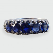 SOLD Edwardian Five Stone Sapphire Ring