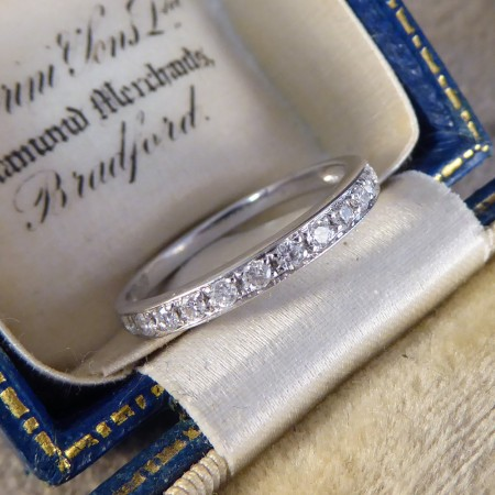 Contemporary Diamond Half Eternity Ring in 14ct White Gold