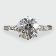 SOLD Art Deco 1.15ct Diamond Solitaire Ring in 18ct White Gold and Platinum