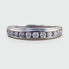 Contemporary Diamond Half Eternity Ring in 18ct White Gold