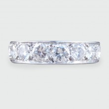 SOLD 1930s Art Deco Diamond Platinum Eternity Ring approx 3.5ct total