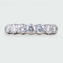 Vintage Seven Stone Diamond Ring in 18ct White Gold