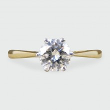 SOLD Classic 0.50ct Diamond Solitaire Engagement Ring modeled in 18ct Gold