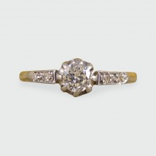 SOLD Antique Diamond Engagement Ring in 18ct Gold and Platinum