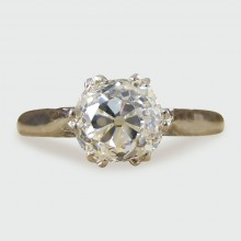 SOLD Vintage 1.41ct Diamond Solitaire Engagement Ring in 18ct Gold