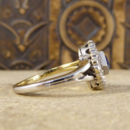 SOLD Antique Edwardian Sapphire and Diamond Ring in 18ct Gold