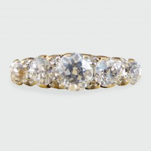 SOLD Late Victorian Five Stone Diamond Ring in 18ct Yellow Gold