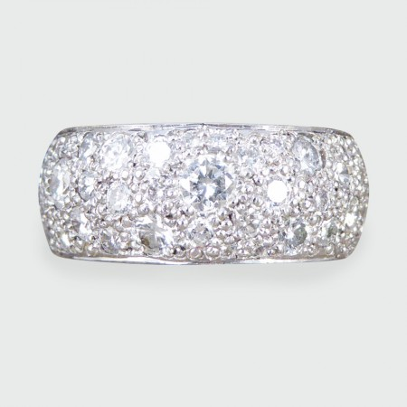 SOLD Contemporary 2.2ct Diamond Thick Eternity Ring in 18ct White Gold