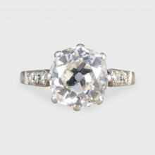 SOLD Art Deco 1.75ct Cushion Cut Diamond Engagement Ring in Platinum