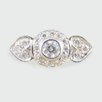 Contemporary Double Hearted Diamond Ring in 18ct White Gold