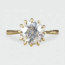 Vintage 1.50ct Diamond Claw Set Engagement Ring in 18ct Yellow Gold