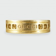 Gucci 18ct Yellow Gold Swivel Ring with Geometric Shapes