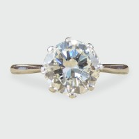 1920's 1.14ct Diamond Solitaire Engagement Ring in 18ct White Gold