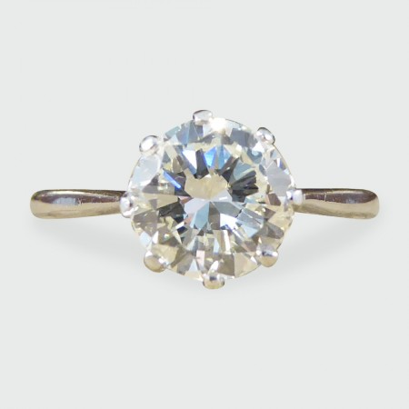 SOLD 1920's 1.14ct Diamond Solitaire Engagement Ring in 18ct White Gold