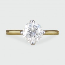 1.08ct Diamond Solitaire Engagement Ring in 18ct Yellow Gold